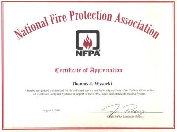 Description: Description: Description: Certificate of Appreciation to Tom Wysocki